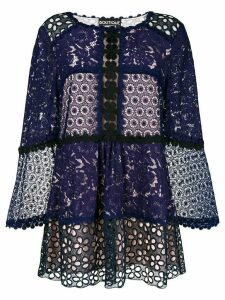 Boutique Moschino broderie anglaise blouse - Purple