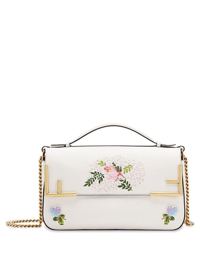 Fendi double F shoulder bag - White