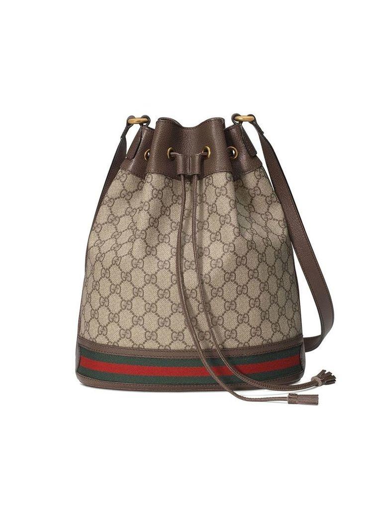 Gucci beige and ebony Ophidia GG bucket bag - Neutrals