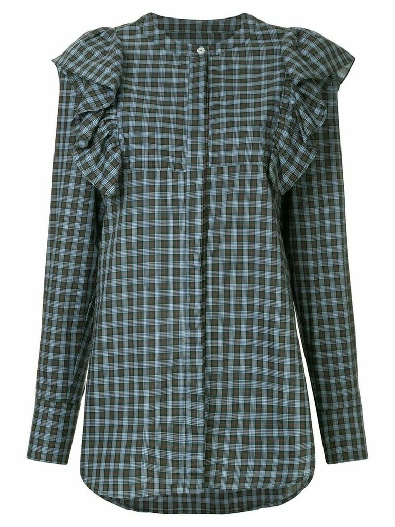 Macgraw Signal checked shirt - Blue