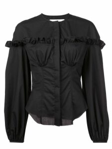 Marques'Almeida ruffle detail shirt - Black