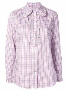 Vivetta checked shirt - Purple
