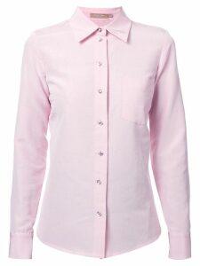 Michael Kors Collection rhinestone button shirt - Pink