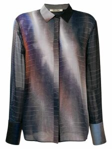 Roberto Cavalli space-ombré shirt - Black