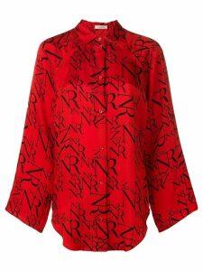 Nina Ricci all-over-logo shirt - Red