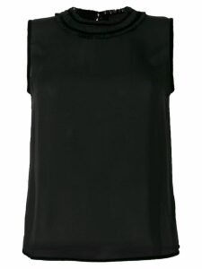 Dsquared2 velvet trim tank top - Black