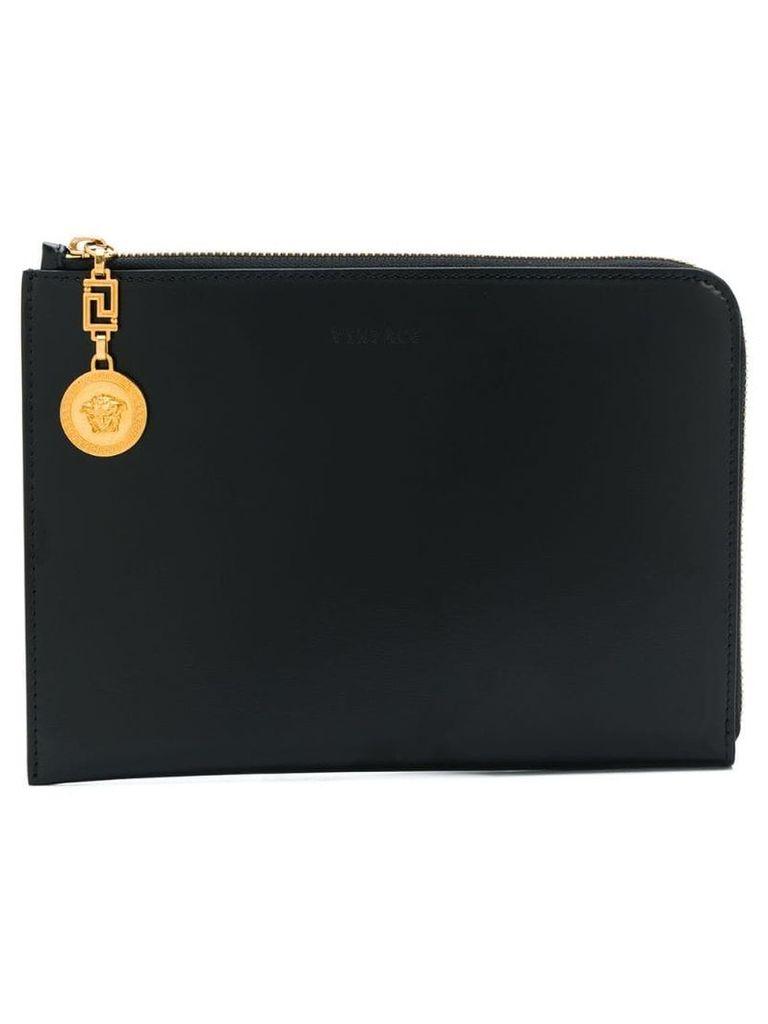 Versace Medusa lock clutch bag - Black