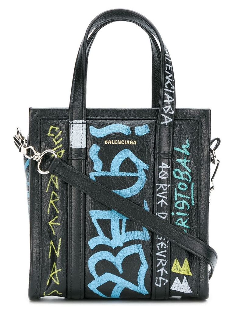 Balenciaga printed Bazar Shopper tote - Black