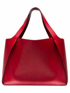 Stella McCartney small logo tote - Red