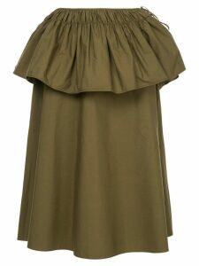 Jil Sander peplum midi skirt - Green