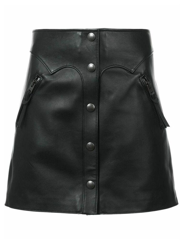 Coach high-waist leather skirt - Black