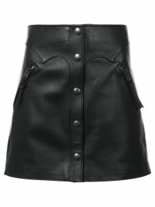 Coach high-waist leather skirt - Black