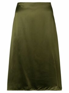 Jil Sander Navy A-line midi skirt - Green