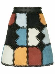Loveless patchwork mini a-line skirt - Multicolour