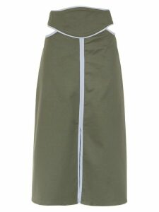 Framed Double Layer midi skirt - Green