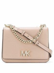 Michael Michael Kors logo flap shoulder bag - Neutrals