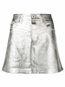Paco Rabanne metallic mini skirt - Silver