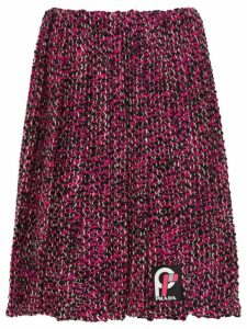 Prada pleated knickerbocker fabric skirt - Pink