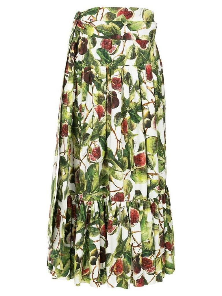 Dolce & Gabbana fig print skirt - Multicolour