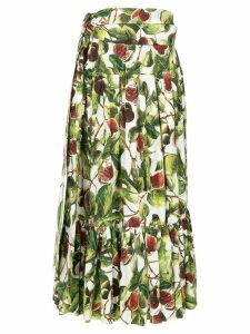 Dolce & Gabbana fig print skirt - Multicolour