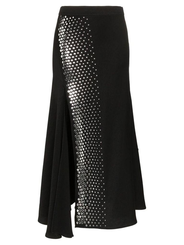 Ellery Asymmetric Studded Skirt - Black