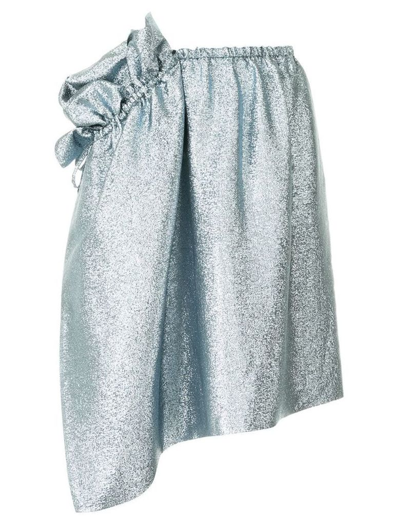 Stella McCartney asymmetric ruffle skirt - Blue