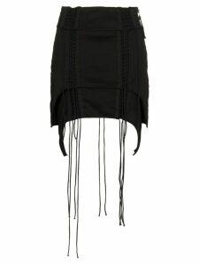 Helmut Lang Aviator Asymmetric Mini-Skirt - Black