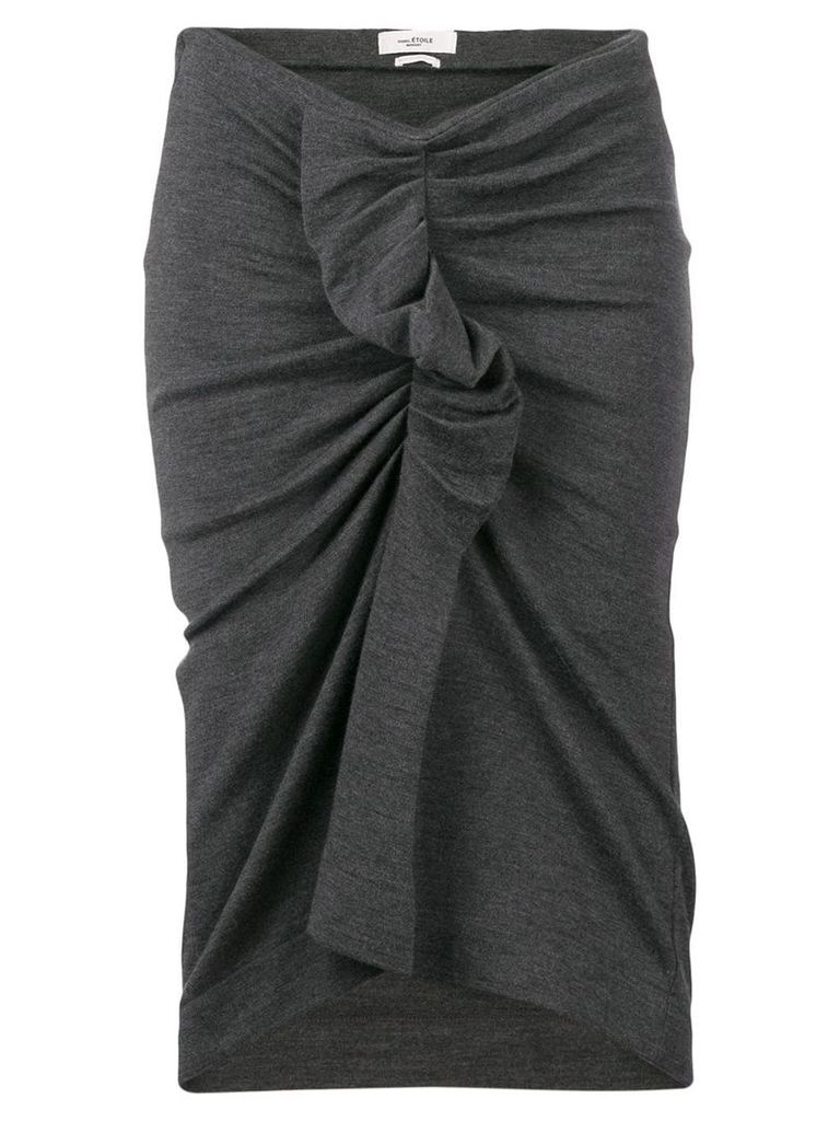 Isabel Marant Étoile asymmetric ruffle skirt - Grey