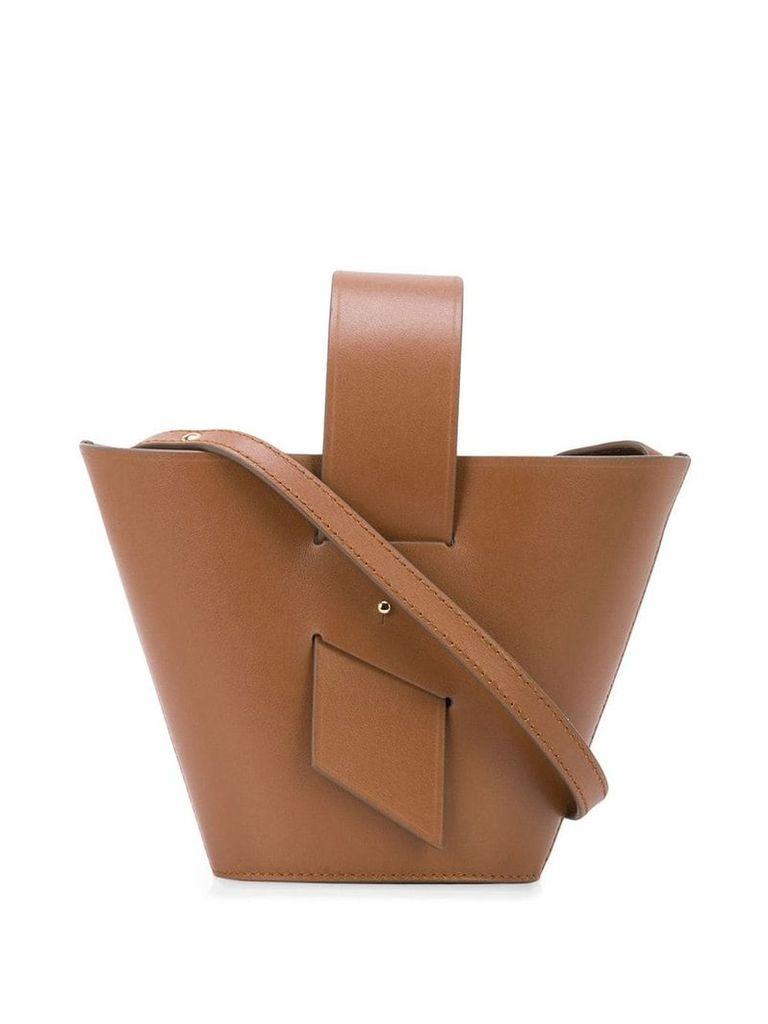 Carolina Santo Domingo Amphora mini leather tote - Brown