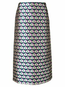 La Doublej lurex pencil skirt - Green