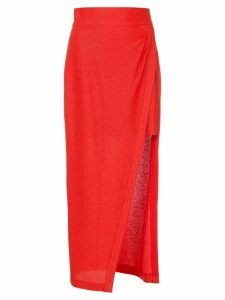 Manning Cartell side slit skirt - Red