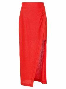 Manning Cartell side slit skirt - Red