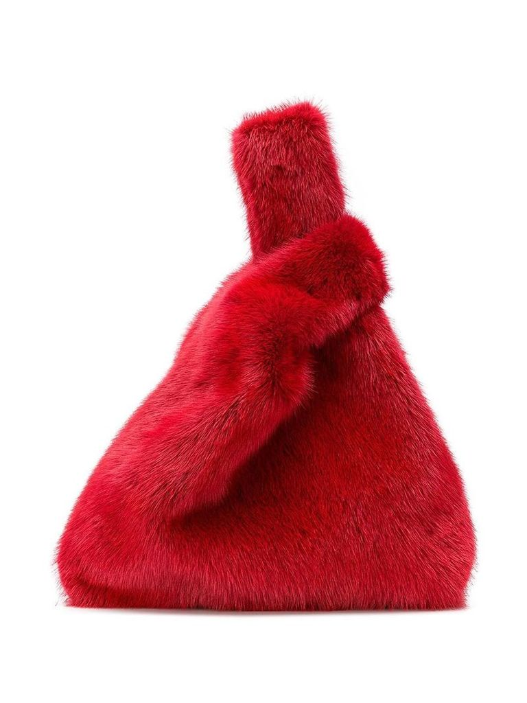 Simonetta Ravizza mini fur tote bag - Red