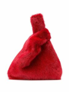 Simonetta Ravizza mini fur tote bag - Red