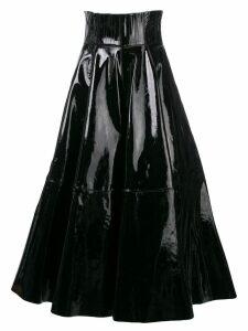 Alex Perry flared midi skirt - Black