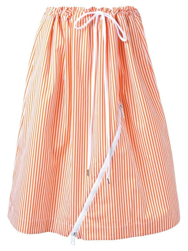 Jil Sander striped skirt - Yellow