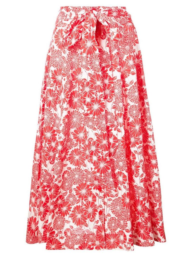 Lisa Marie Fernandez printed beach skirt - Red