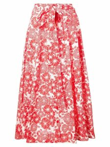 Lisa Marie Fernandez printed beach skirt - Red