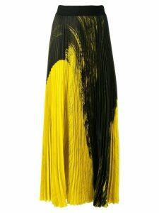 Poiret colour-block pleated skirt - Black