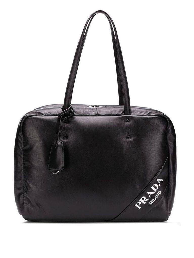 Prada large top handles tote - Black