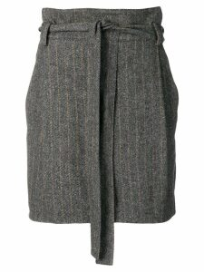 Ulla Johnson belted herringbone mini skirt - Grey