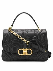 Salvatore Ferragamo quilted Gancini flap bag - Black