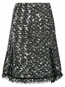 Giambattista Valli high-waisted tweed skirt - Black