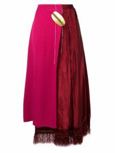 Marni asymmetric high-waisted skirt - Pink