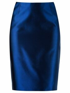 Martha Medeiros high waist pencil skirt - Blue