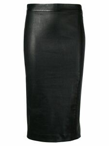 Theory nappa pencil skirt - Black