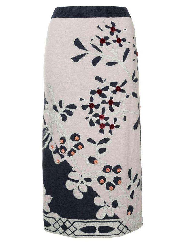 Onefifteen floral pattern skirt - Pink