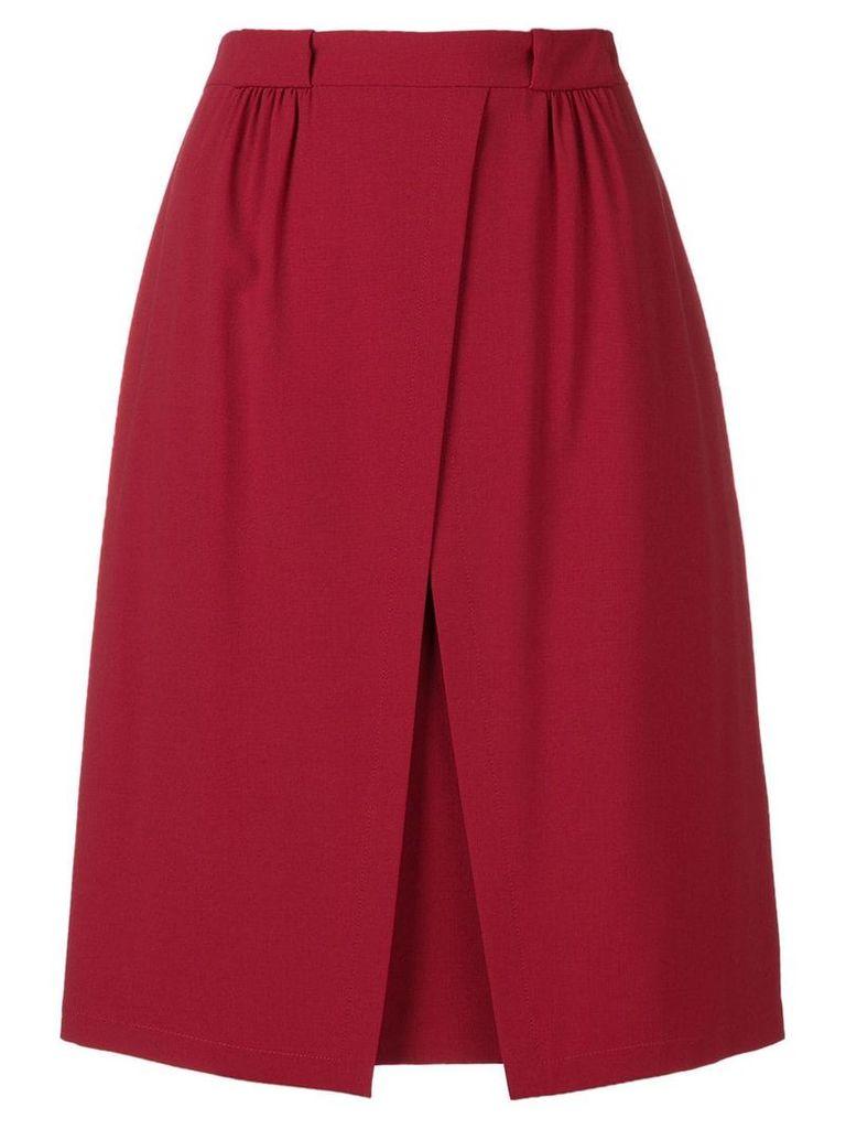Emporio Armani off centre split skirt - Red