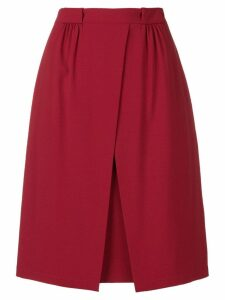 Emporio Armani off centre split skirt - Red