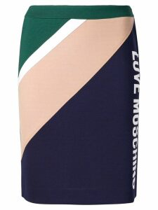 Love Moschino colour block pencil skirt - Blue